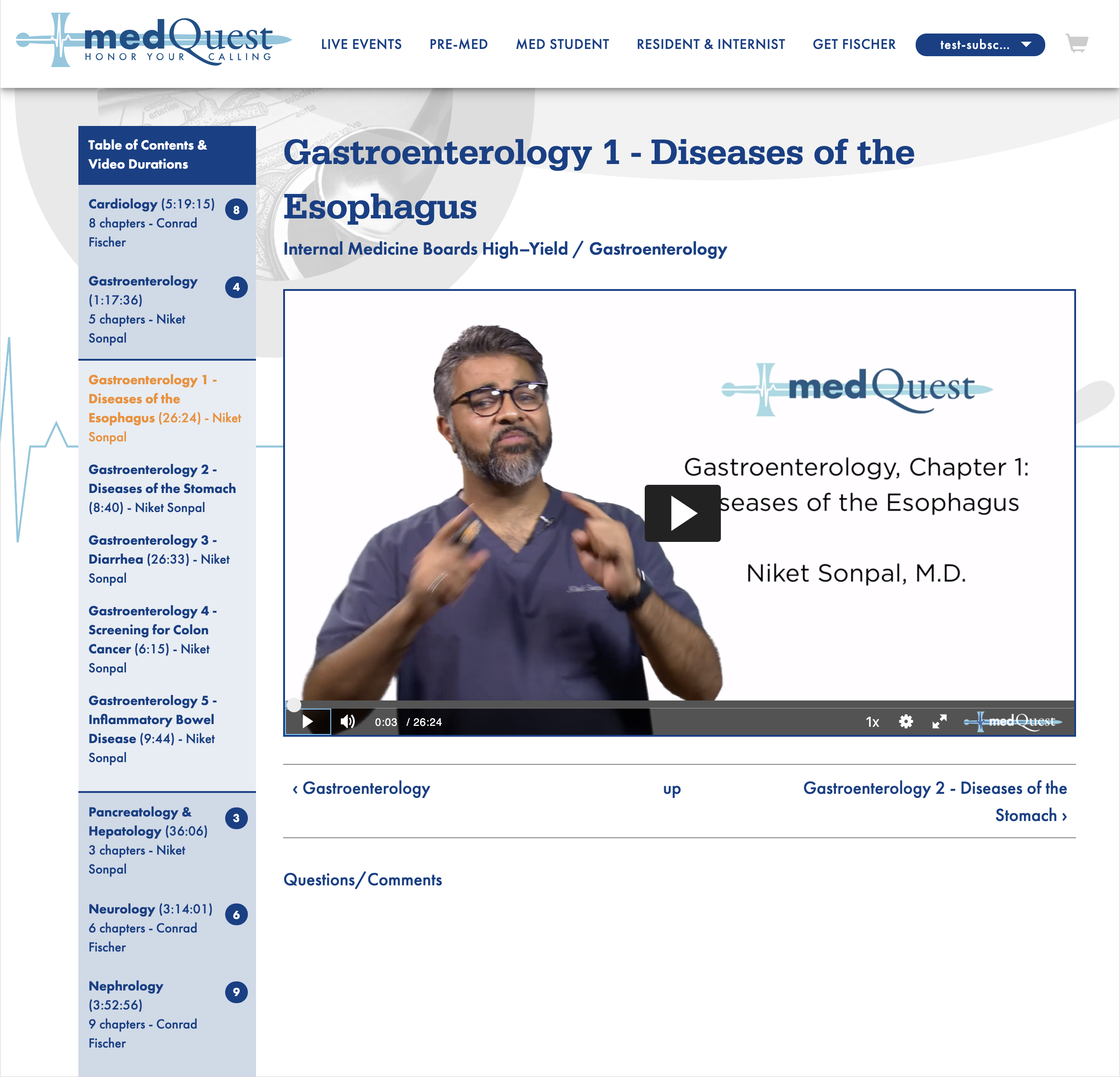 MedQuest — Video Lecture